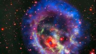 Астрономы нашли мёртвую звезду, окружённую красочным кольцом