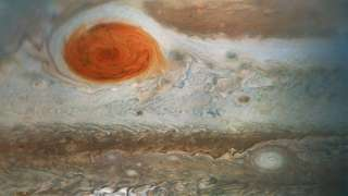 Получен новый снимок Большого красного пятна на Юпитере