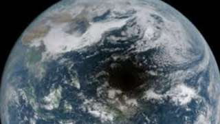 Японский спутник запечатлел на видео, как астероид отбрасывает тень на поверхность Земли