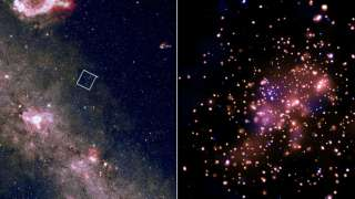 Учёные показали снимок звёздного скопления в рентгеновских лучах
