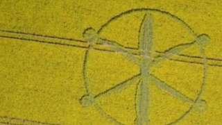 На поле в Британии обнаружили следы неопознанных летающих объектов