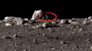 Уфолог обнаружил на поверхности Луны гуманоида