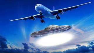 Пассажиры самолёта были перепуганы двумя следовавшими рядом НЛО