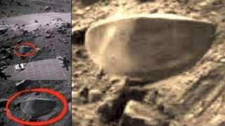 Уфолог обнаружил на Марсе загадочный объект в форме полусферы