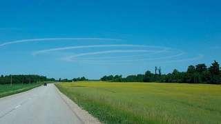 В Латвии образовались огромные небесные кольца
