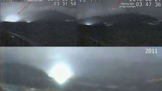 Странные огни над вулканом Сакурадзима перепугали японцев