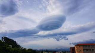 В Южной Корее увидели необычный НЛО облачного формата
