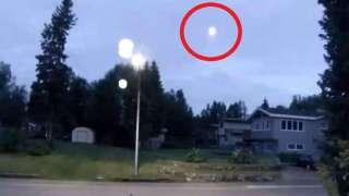 В небе над Аляской заметили загадочный светящийся шар