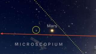 Уфолог заметил, как НЛО полетел к Марсу