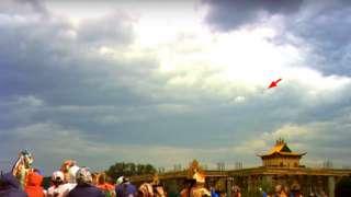 В небе над Улан-Удэ появился НЛО во время буддистского обряда