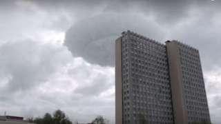 """Огромное облако в виде """"летающей тарелки"""" испугало москвичей"""