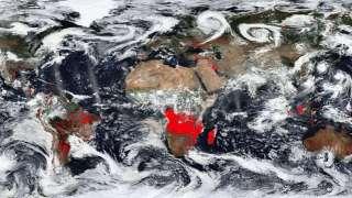 NASA показала кадры Земли, охваченной пожарами