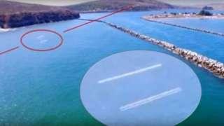 В США два огромных НЛО были замечены под водой