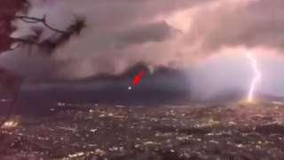 В Мексике НЛО потерпел крушение во время сильной грозы