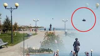 Загадочный объект завис прямо над памятником Петру Первому