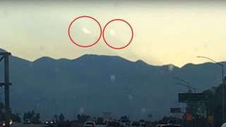 В США сразу два НЛО появились возле солнечного диска