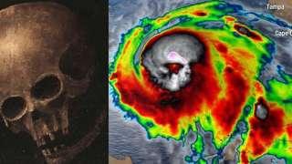 Американцы перепуганы зловещим силуэтом урагана, который разрушил Флориду, и готовятся к Апокалипсису
