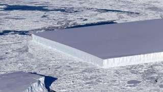 Обнаруженный NASA айсберг идеальной прямоугольной формы поразил интернет