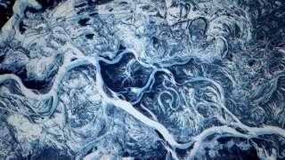 Снимок заснеженного Днепра, сделанный с борта МКС, поразил интернет