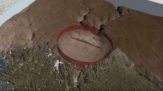 В Гренландии нашли огромный кратер, образовавшийся после падения гигантского метеорита