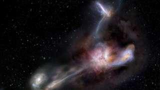 Галактика ворует топливо у соседей, чтобы прокормить черную дыру