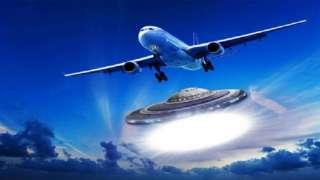 Со спутника случайно засняли, как два самолёта преследуют НЛО, исследователи изучают невиданные кадры