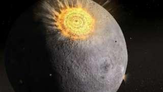 На видео попал метеорит, упавший на Луну во время затмения