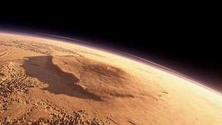 Серия извержений гигантских вулканов на Марсе вызвала страшную катастрофу