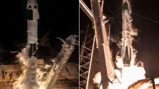 Илон Маск показал старт корабля Crew Dragon и видео внутри кабины