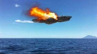 Уфолог показал фото взорвавшейся над Беринговым морем «летающей тарелки»