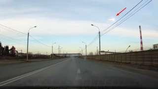 Падение метеорита над Красноярском было снято на видео