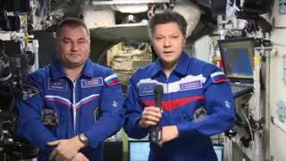 Алексей Овчинин и Олег Кононенко с борта МКС поздравили всех с Днем космонавтики