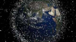 На орбите Земли находится более миллиарда фрагментов мелкого космического мусора