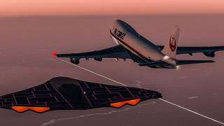 Шокирующее видео НЛО, снятое с окна самолёта, появилось в сети