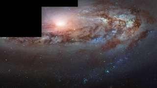 NASA представило изображение галактики, движущейся на нас