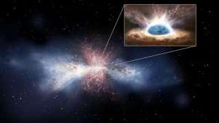 Астрономы обнаружили мощные галактические ветра, исходящие со стороны сверхмассивной черной дыры