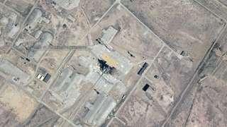Установленную на Байконуре ракету-носитель запечатлели из космоса