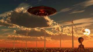 Впервые в сети появилось поистине шокирующее видео, в котором НЛО приземляется в пустыне и высаживает пришельца