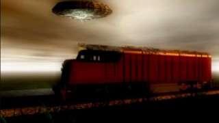 Очень странные дела: В Омске НЛО пролетел возле железной дороги и попал на видео