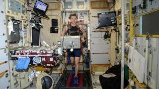 У российских космонавтов мало места для занятий спортом на МКС