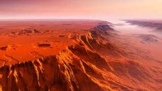 На Марсе найдены следы гигантского цунами