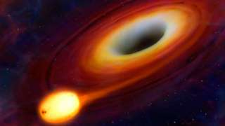 Астрономы впервые зафиксировали, как черная дыра поглощает нейтронную звезду