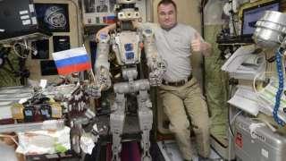 Опубликовано видео с роботом FEDOR на борту МКС