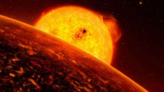 У экзопланеты в созвездии Зайца нашли полностью покрытую лавой луну