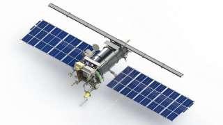 Российский спутник врезался в метеорит