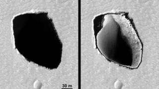 HiRISE заглянула в Марсианскую яму