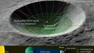 НАСА хочет построить радиотелескоп на Луне