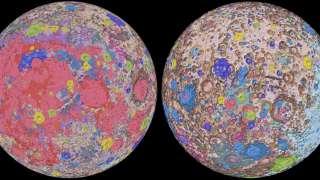 Создана Единая геологическая карта Луны