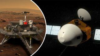 Селфи марсохода «Тяньвэнь-1» в открытом космосе