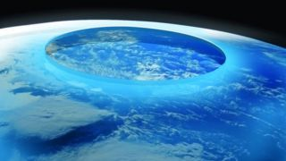 Крупнейшая озоновая дыра зафиксирована над Антарктидой